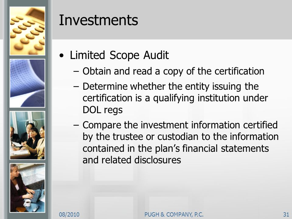Investments Limited Scope Audit