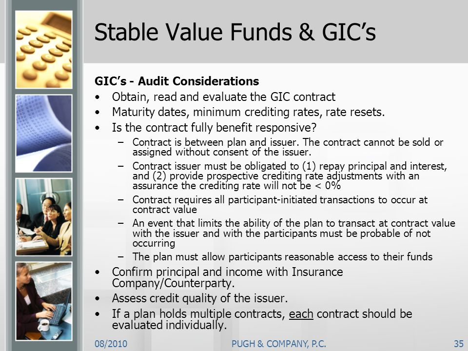 Stable Value Funds & GIC's