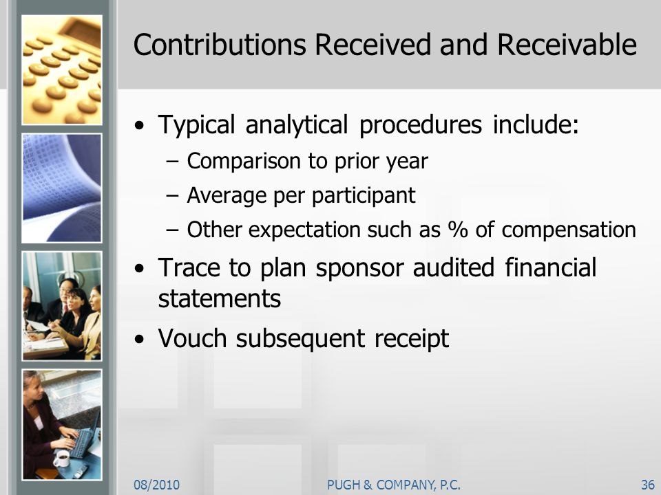 Contributions Received and Receivable