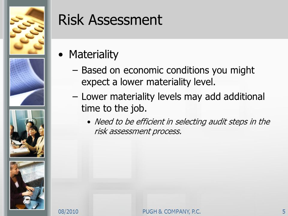 Risk Assessment Materiality