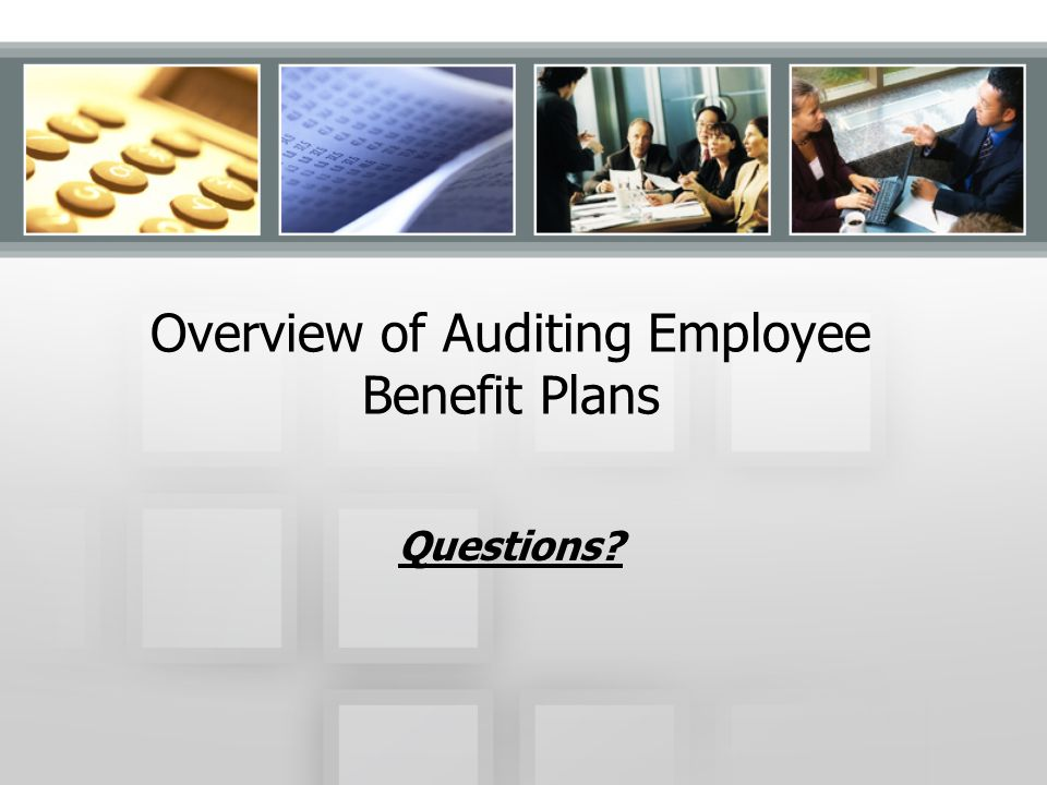 Overview of Auditing Employee Benefit Plans
