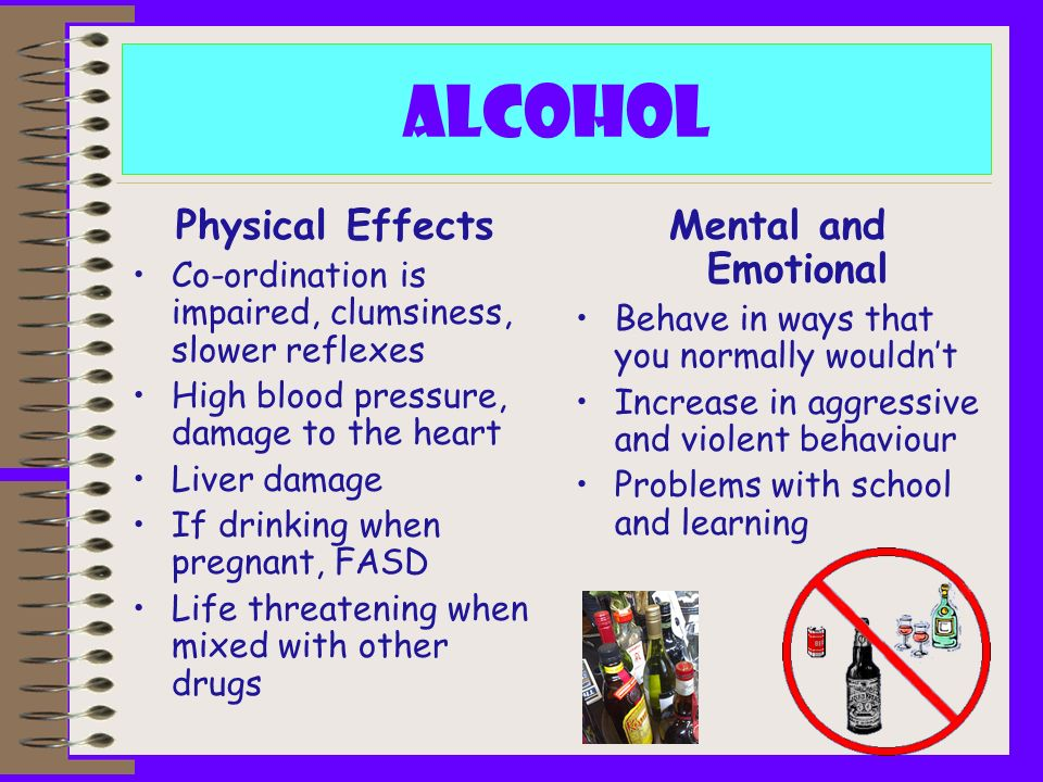 Alcohol Physical Effects Mental and Emotional