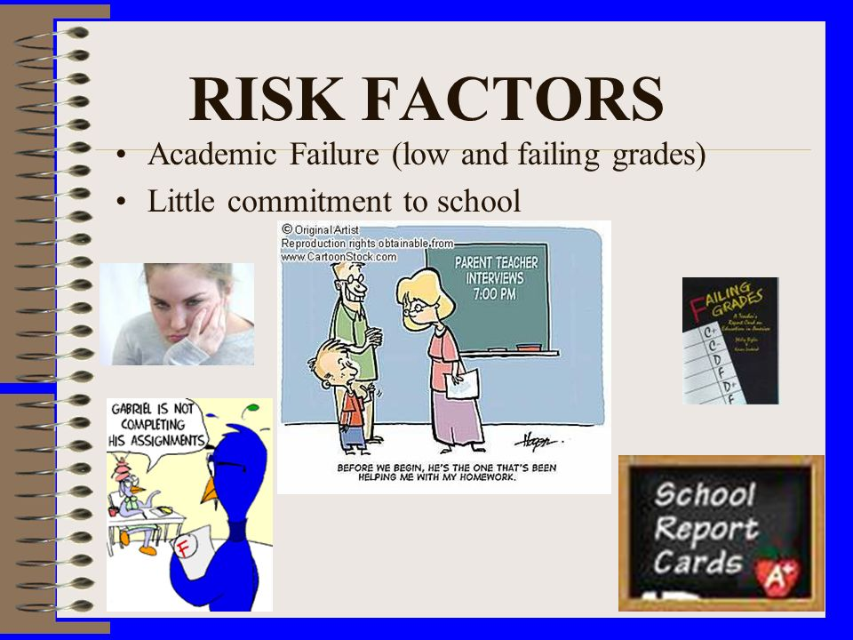 RISK FACTORS Academic Failure (low and failing grades)