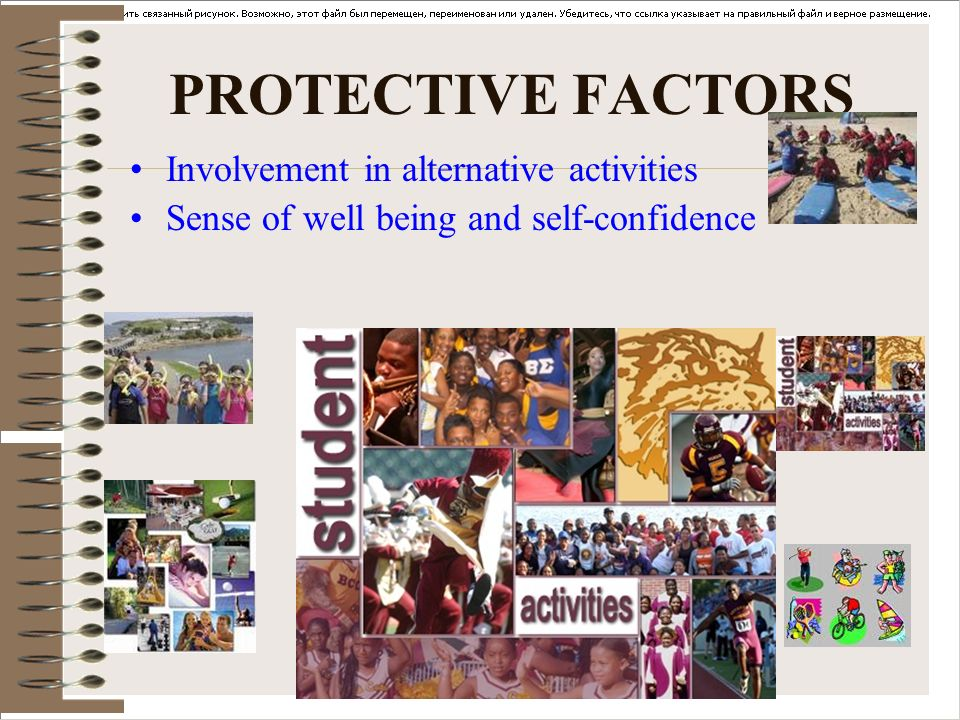 PROTECTIVE FACTORS Involvement in alternative activities