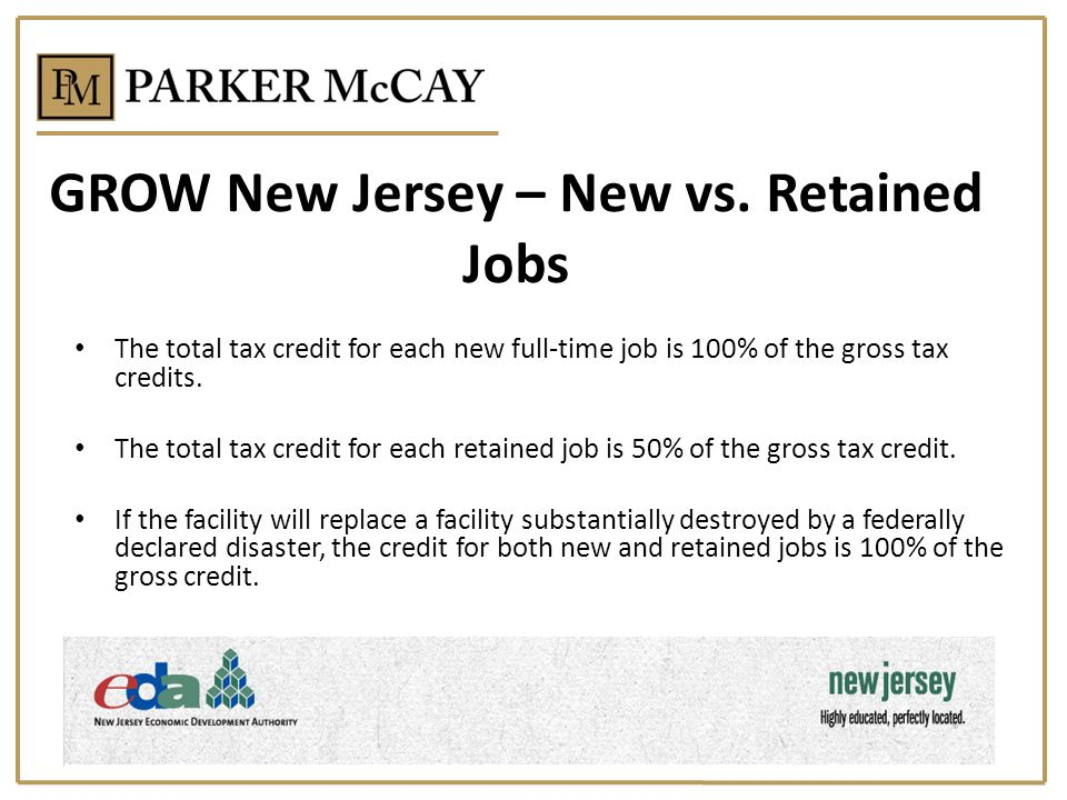 GROW New Jersey – New vs. Retained Jobs