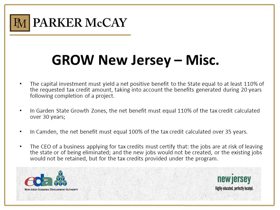 GROW New Jersey – Misc.
