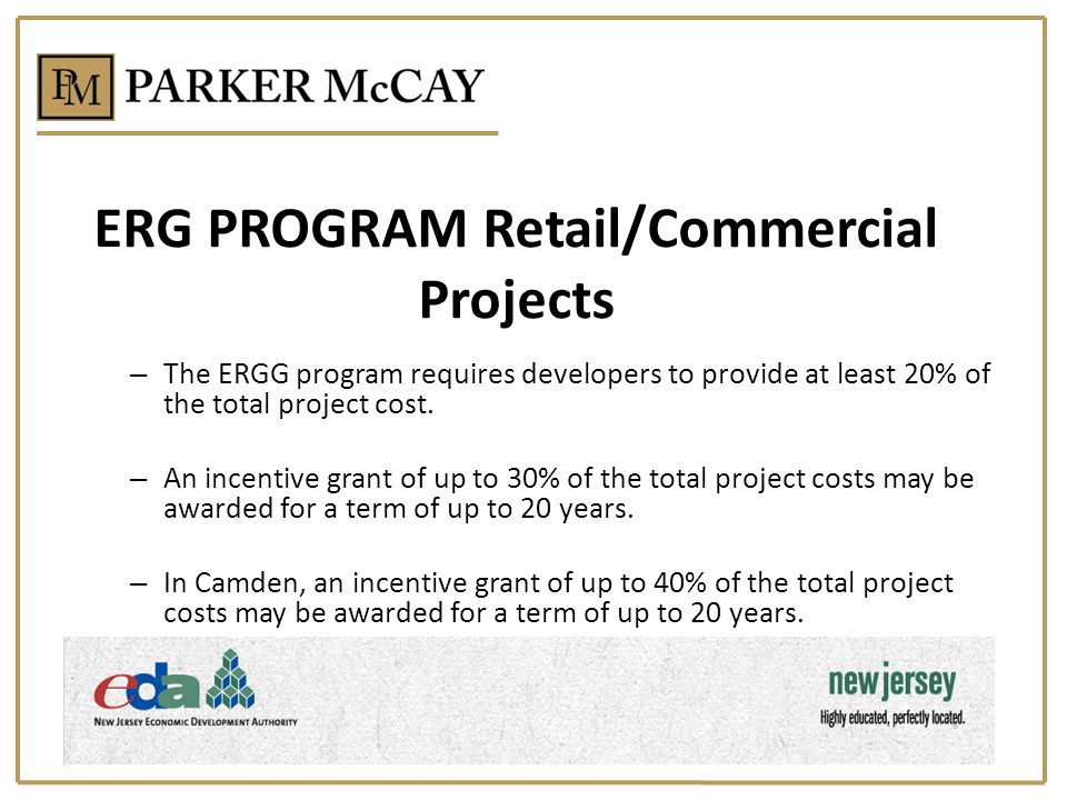 ERG PROGRAM Retail/Commercial Projects