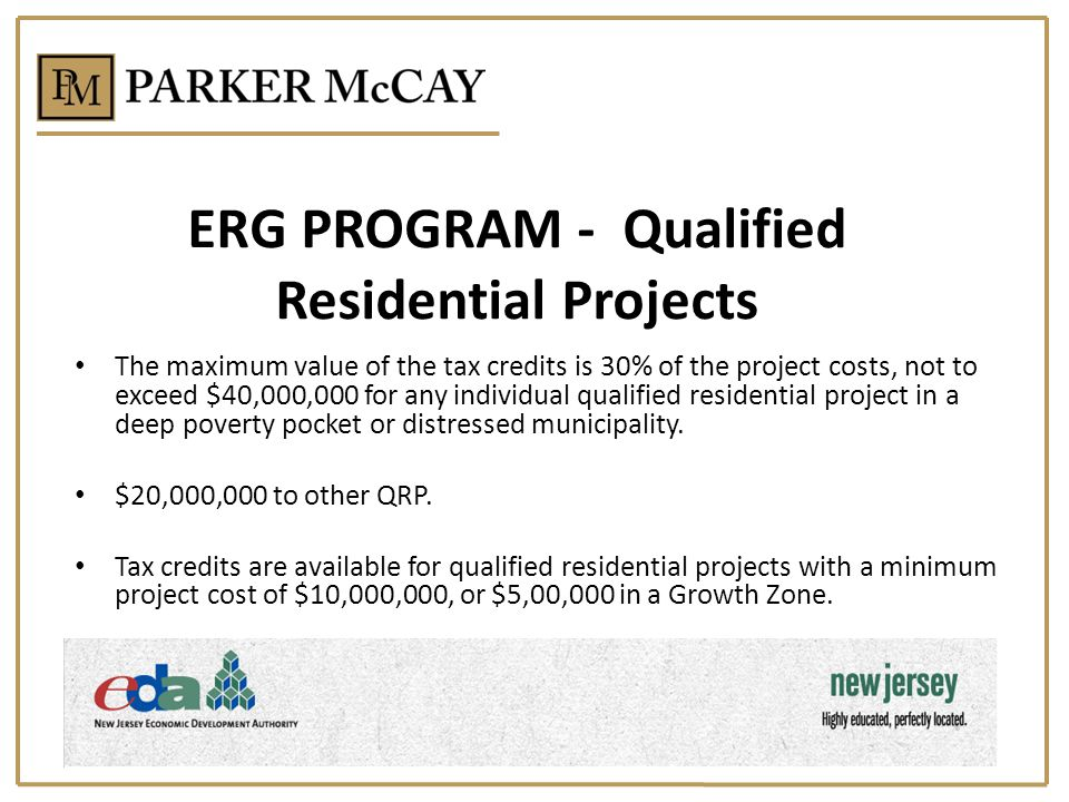 ERG PROGRAM - Qualified Residential Projects