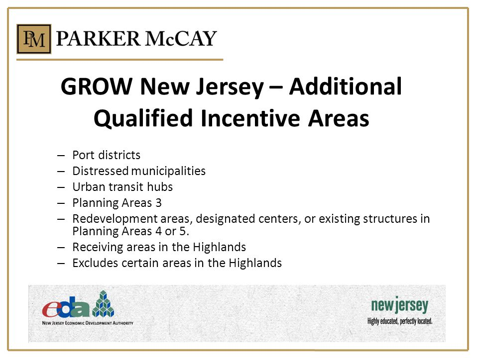GROW New Jersey – Additional Qualified Incentive Areas
