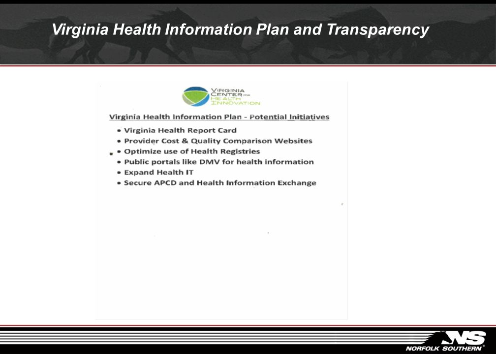Virginia Health Information Plan and Transparency