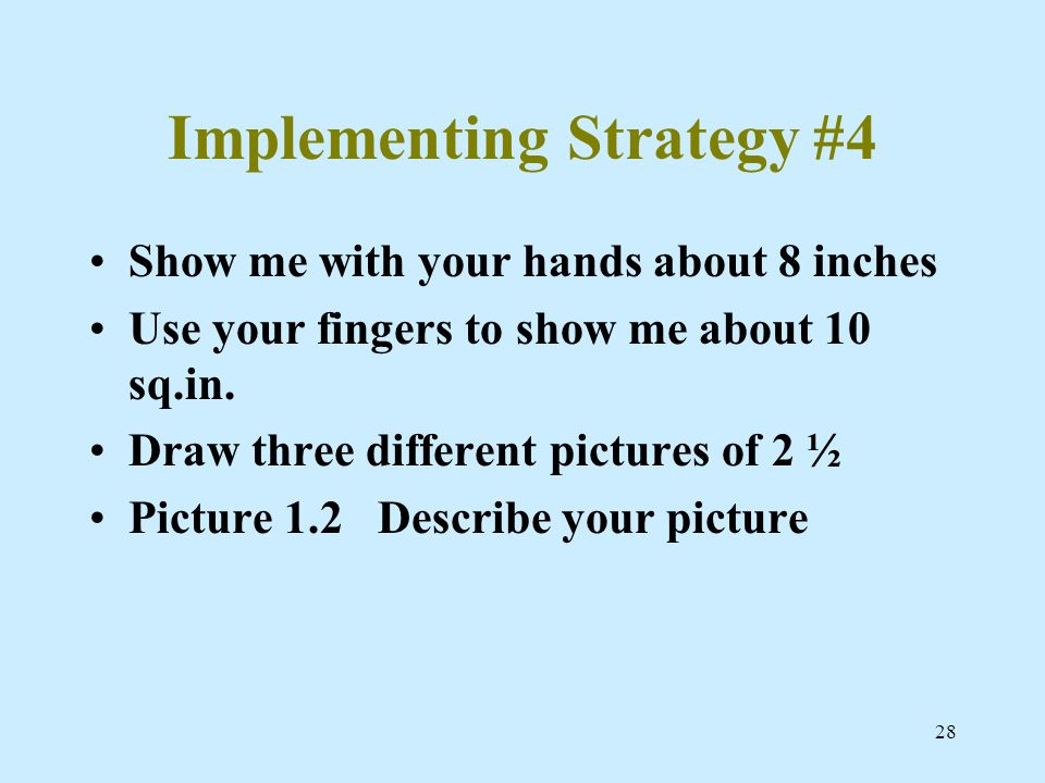 Implementing Strategy #4