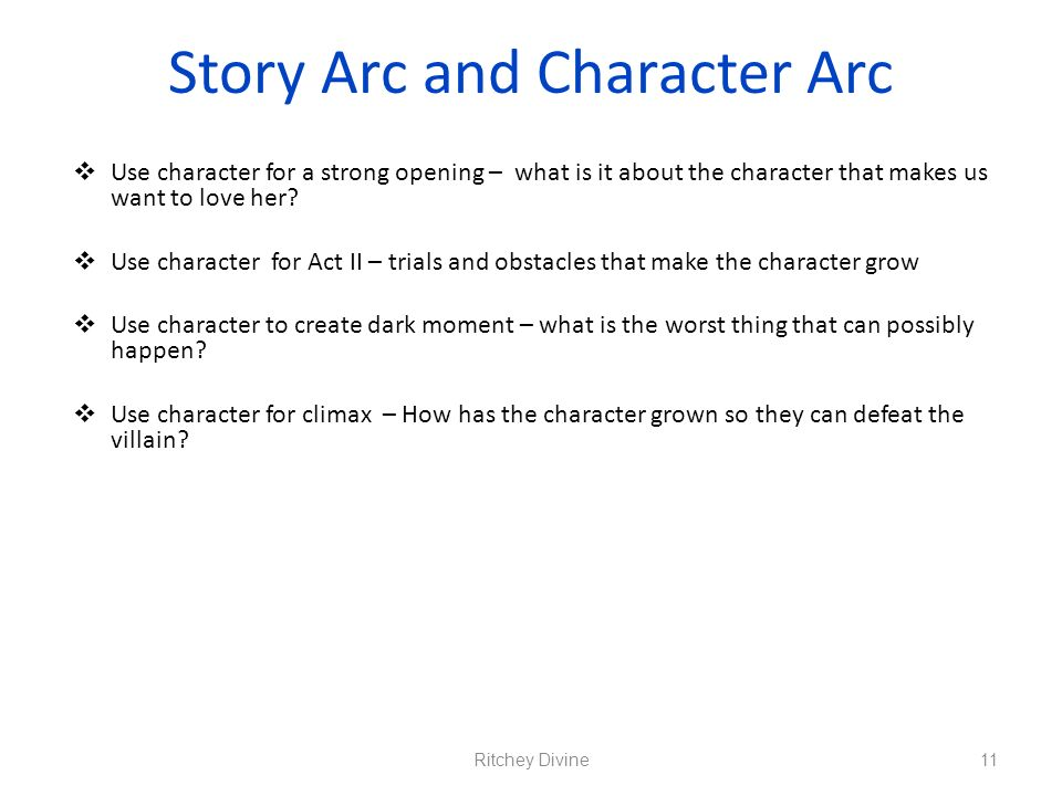 Story Arc and Character Arc
