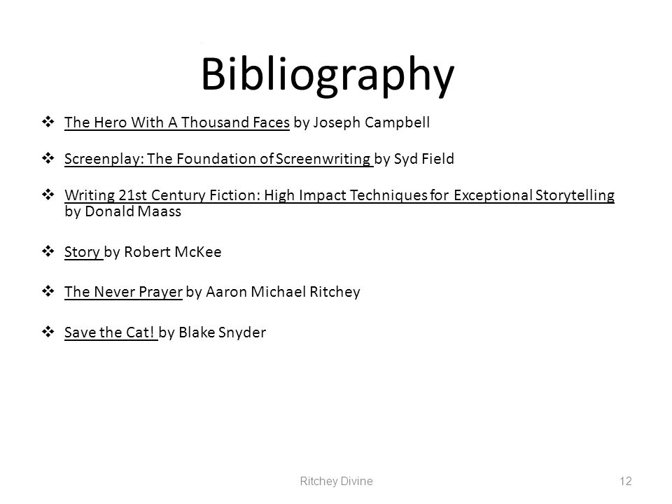 Bibliography The Hero With A Thousand Faces by Joseph Campbell