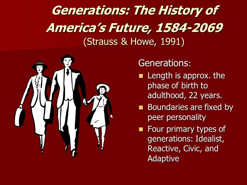 Generations: The History of America's Future, (Strauss & Howe, 1991)