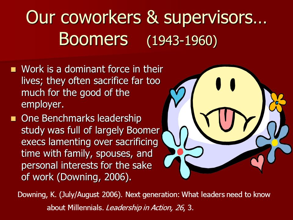 Our coworkers & supervisors… Boomers ( )