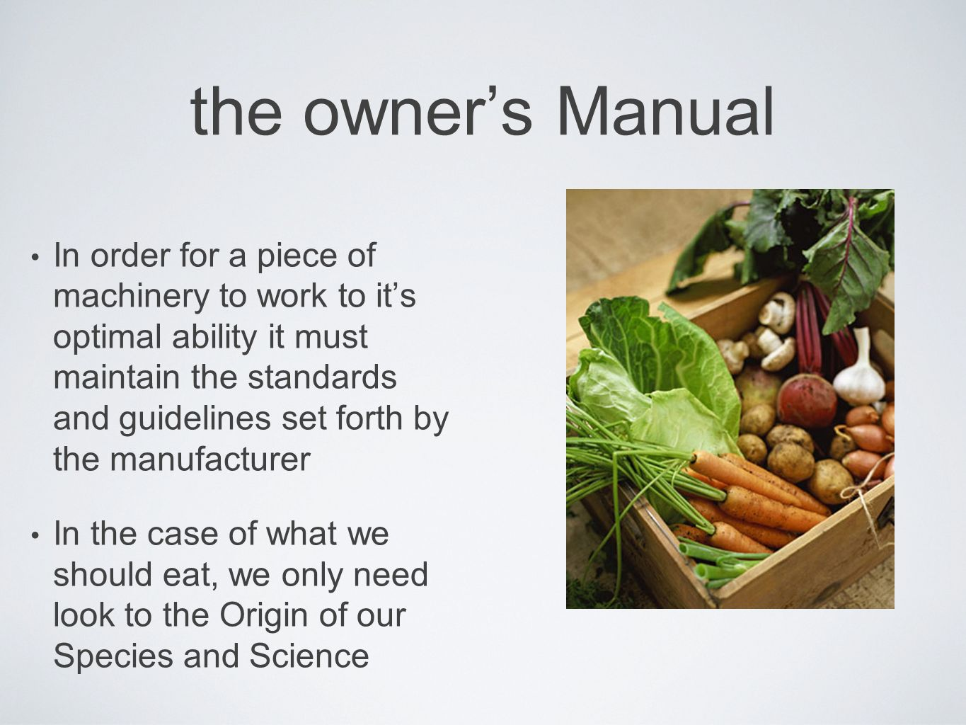 the owner's Manual