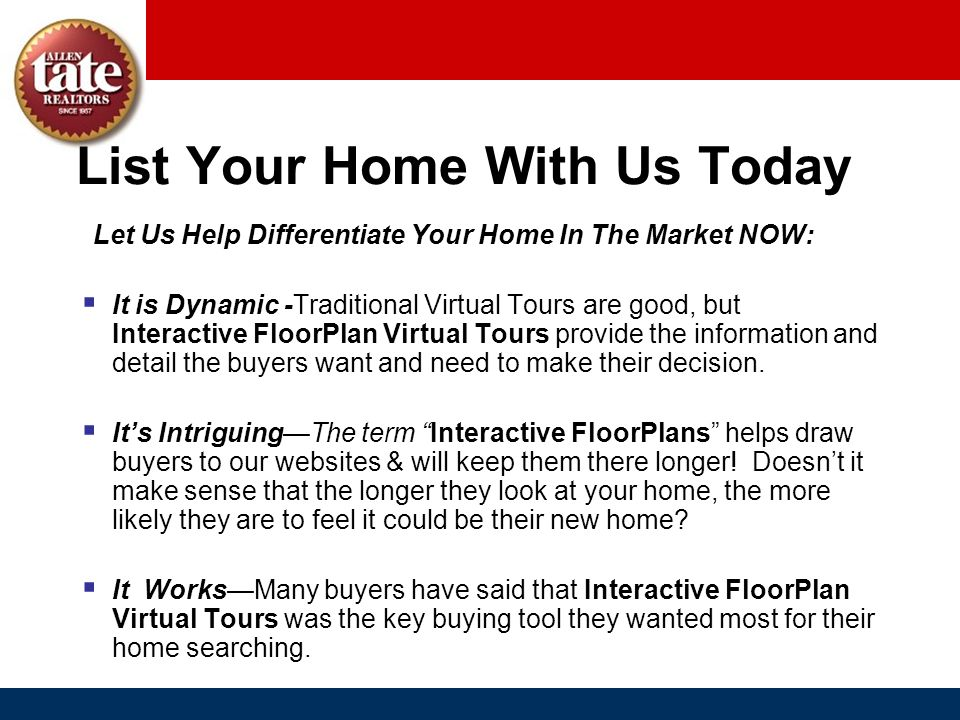 List Your Home With Us Today