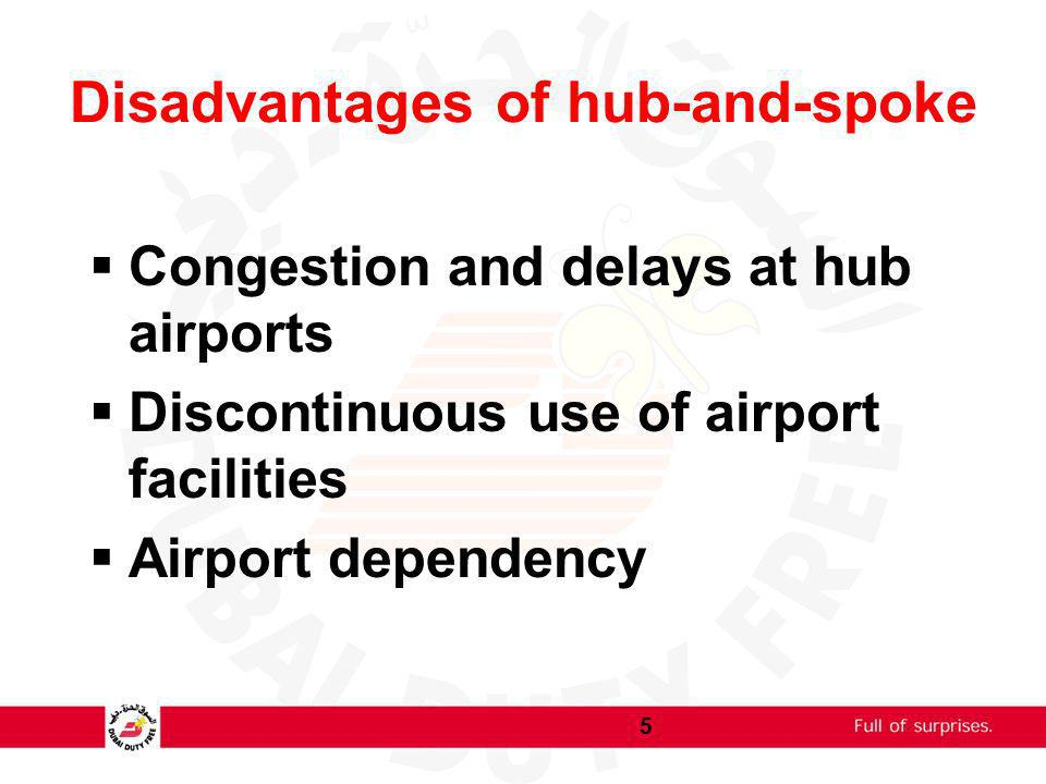 Disadvantages of hub-and-spoke
