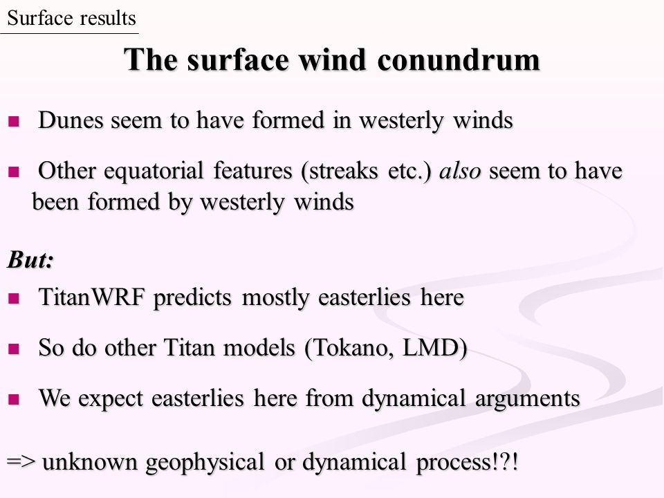 The surface wind conundrum