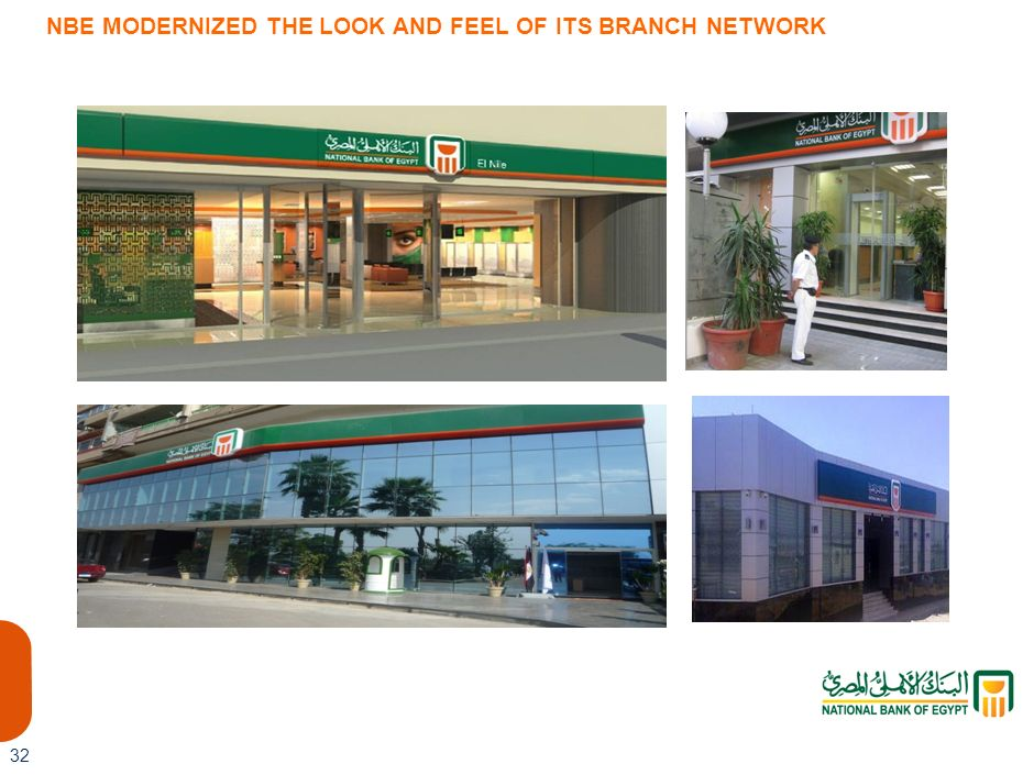 NBE MODERNIZED THE LOOK AND FEEL OF ITS BRANCH NETWORK
