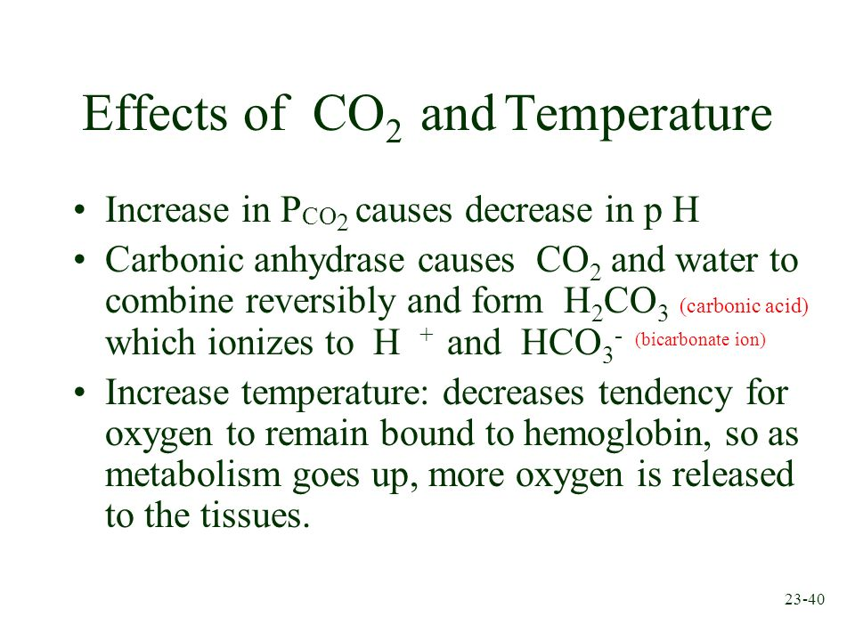 Effects of CO2 and Temperature