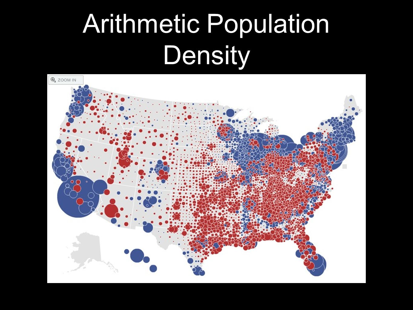 Arithmetic Population Density