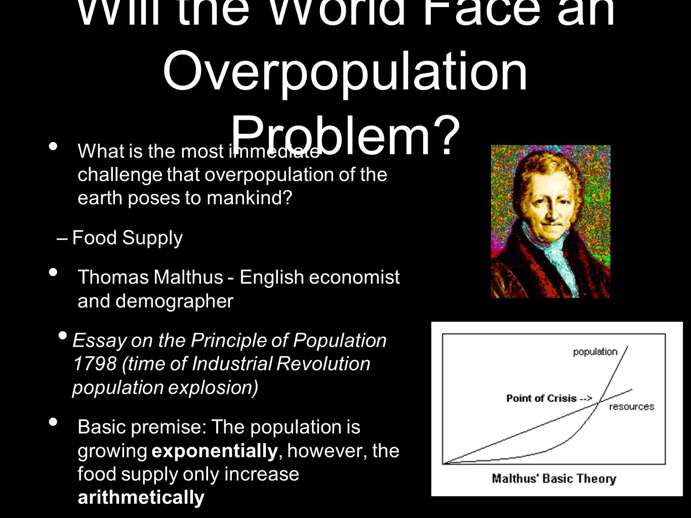 Will the World Face an Overpopulation Problem