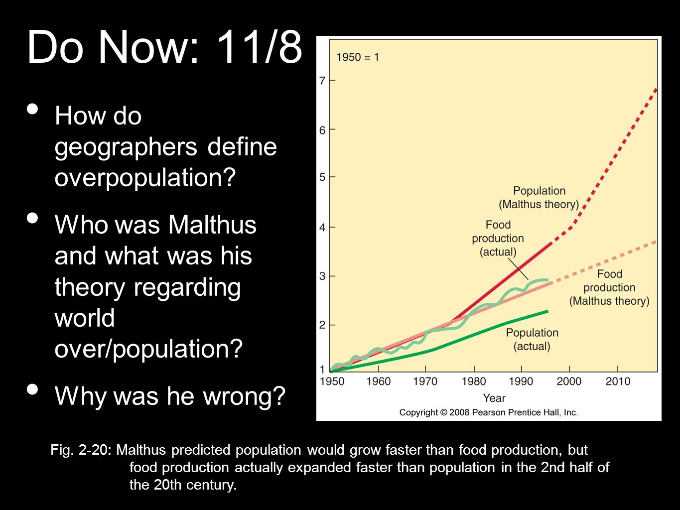 Do Now: 11/8 How do geographers define overpopulation