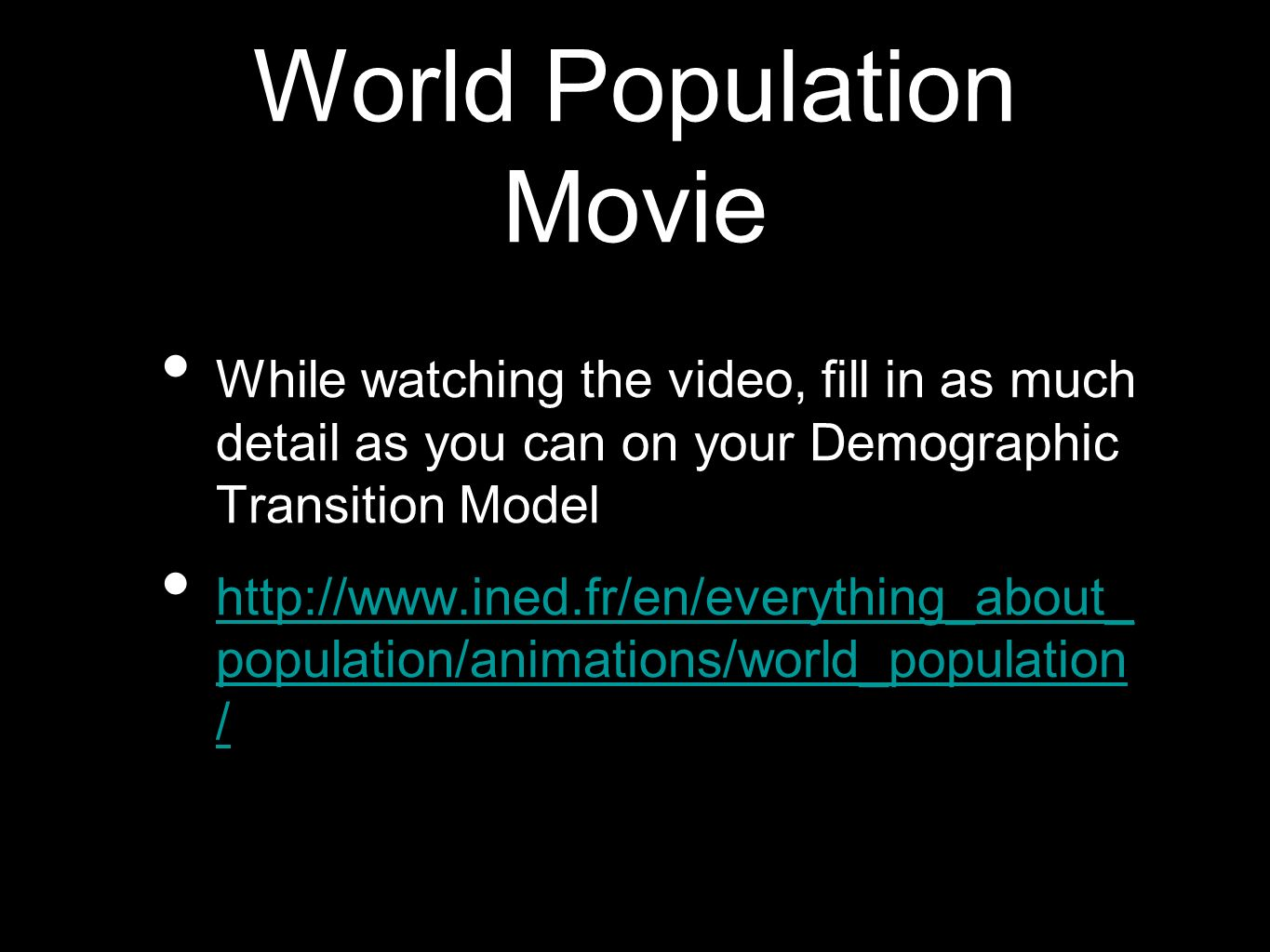 World Population Movie