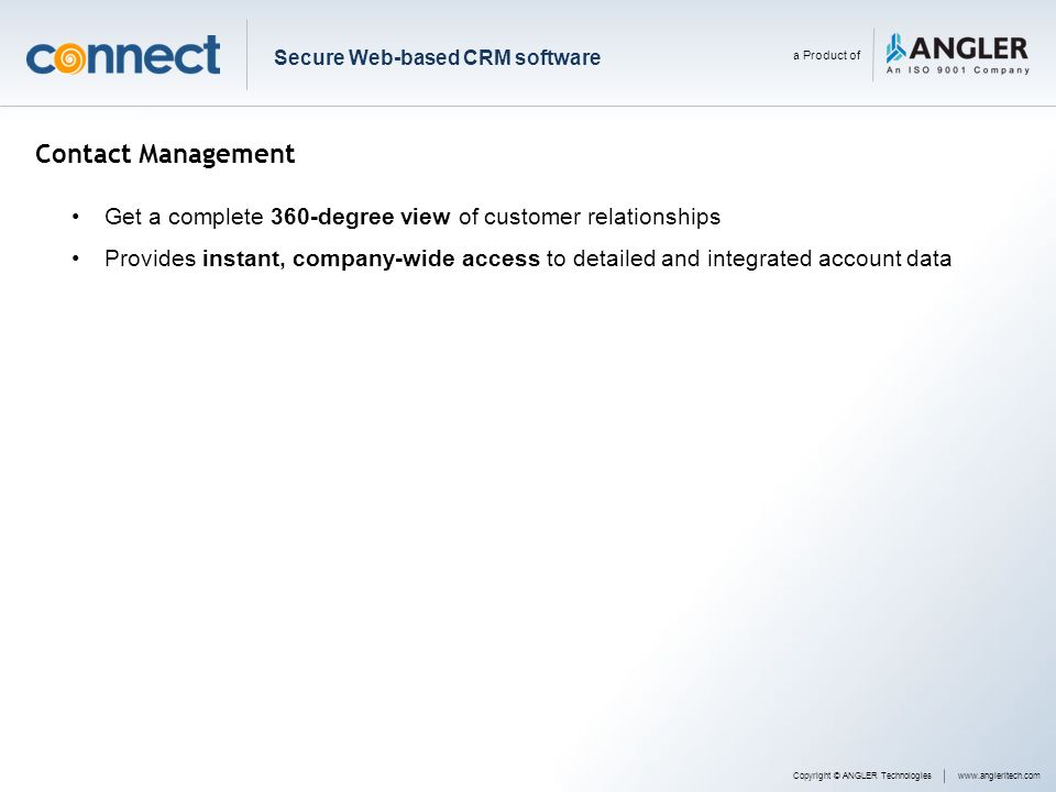 Secure Web-based CRM software