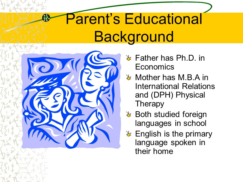 Parent's Educational Background