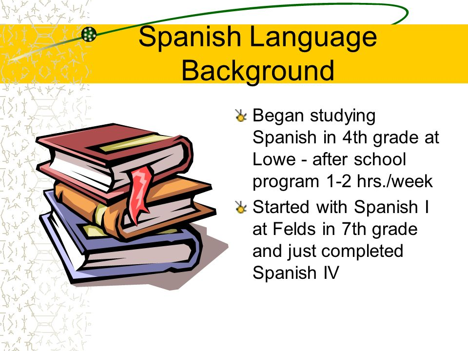 Spanish Language Background