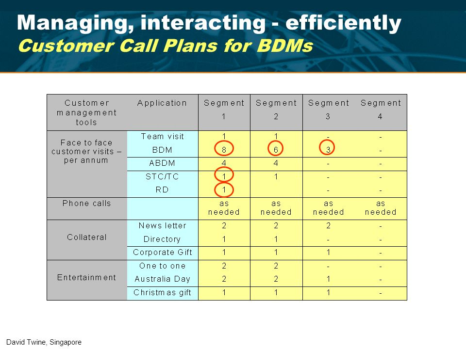 Managing, interacting - efficiently Customer Call Plans for BDMs