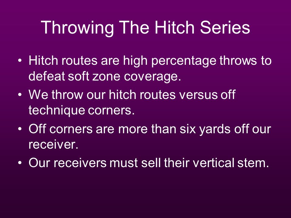 Throwing The Hitch Series
