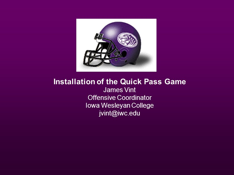 Installation of the Quick Pass Game
