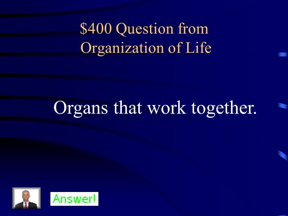 $400 Question from Organization of Life
