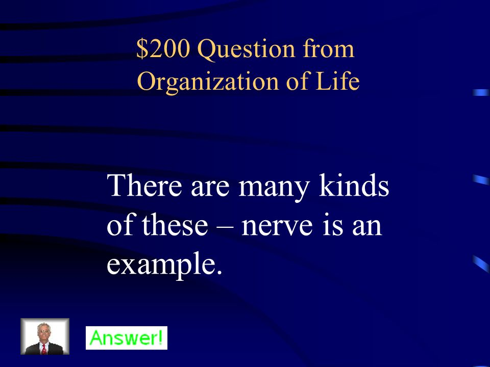 $200 Question from Organization of Life
