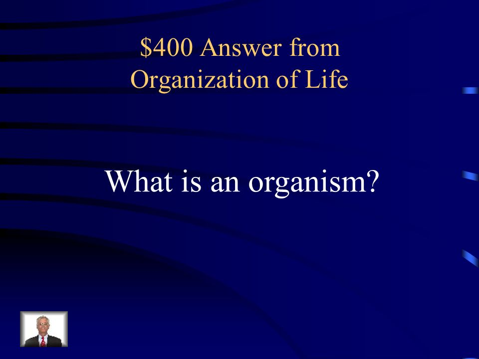 $400 Answer from Organization of Life