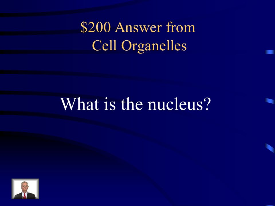 $200 Answer from Cell Organelles