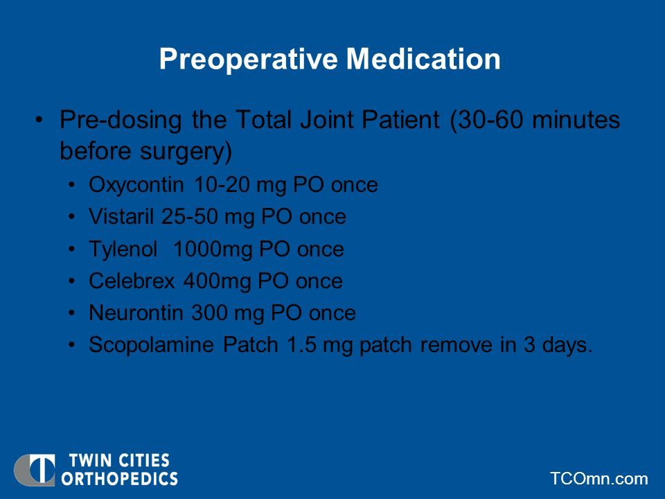Preoperative Medication
