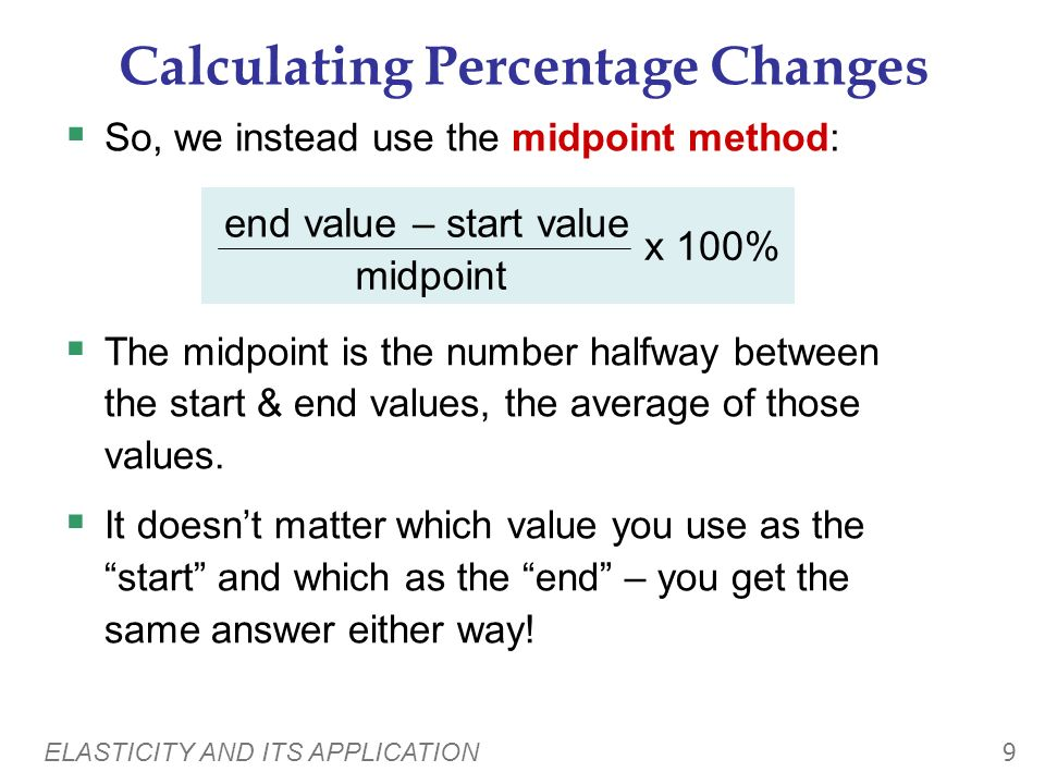 Calculating Percentage Changes