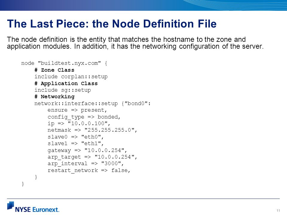 The Last Piece: the Node Definition File
