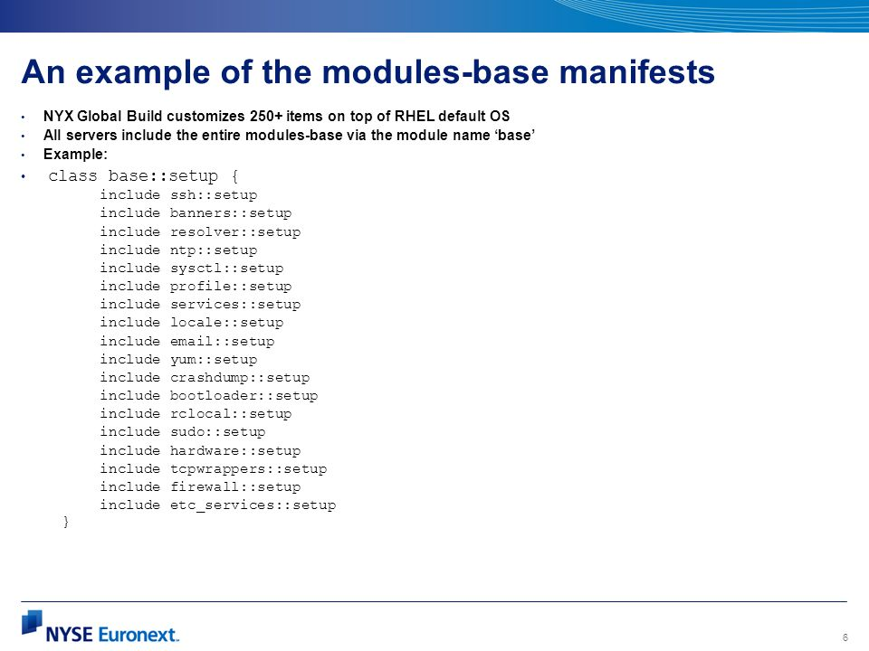 An example of the modules-base manifests
