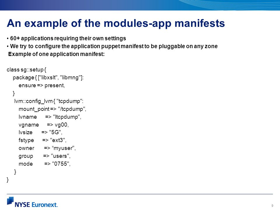 An example of the modules-app manifests