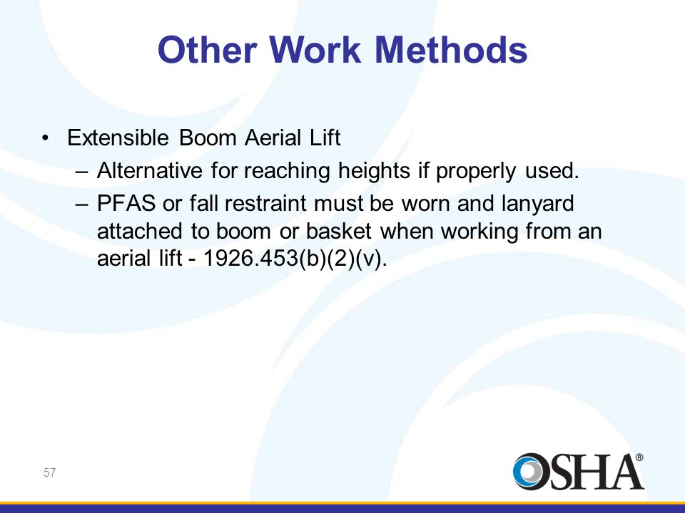 Other Work Methods Extensible Boom Aerial Lift