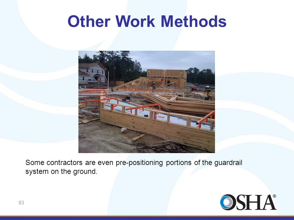 Other Work Methods And here another has pre-positioned portions of the guardrail system on the ground …