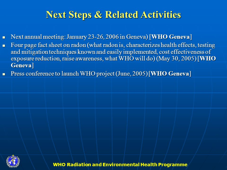 Next Steps & Related Activities