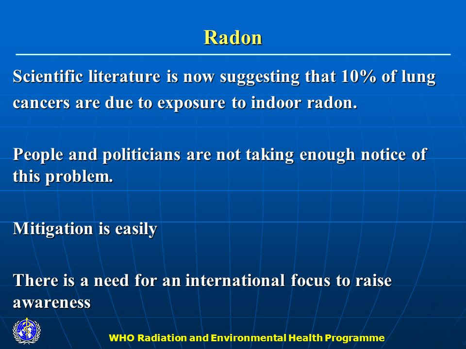 WHO Radiation and Environmental Health Programme