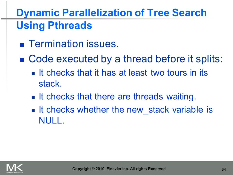 Dynamic Parallelization of Tree Search Using Pthreads