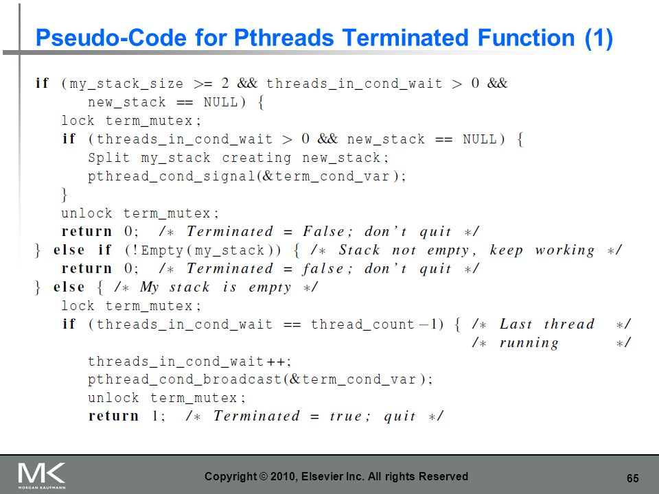 Pseudo-Code for Pthreads Terminated Function (1)
